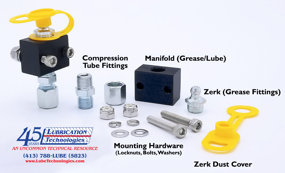 Remote Grease Manifold Line Kits | Remote Lube Fitting Systems